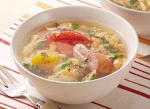 トマトと豆苗のスープ野菜の作り方_2_1