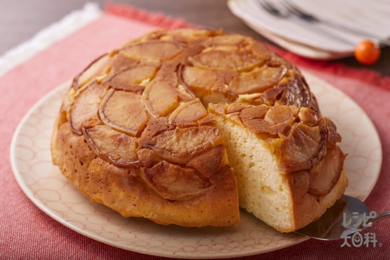 フライパンで作るりんごケーキ