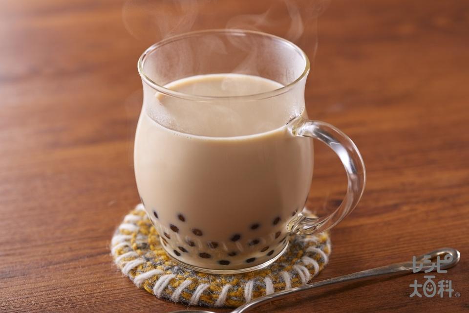 タピオカ・チャイ(タピオカパール(ゆで)+牛乳を使ったレシピ)