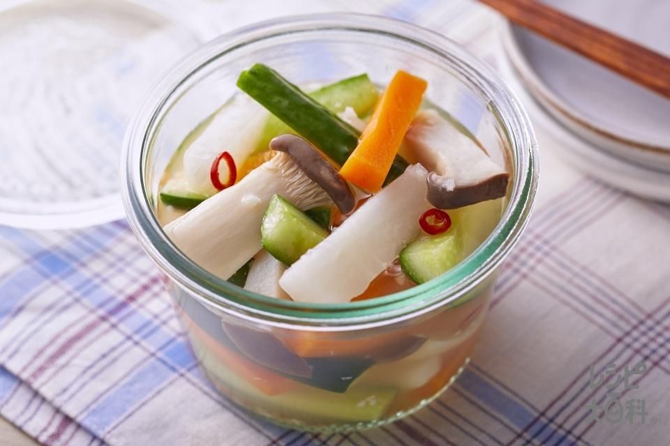 野菜のうま甘ピクルス(大根+きゅうりを使ったレシピ)