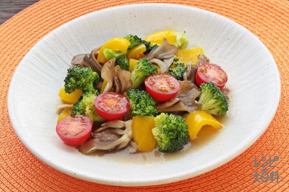 ブロッコリーとまいたけのレンチン前菜~バーニャカウダ風~(ブロッコリー+まいたけを使ったレシピ)