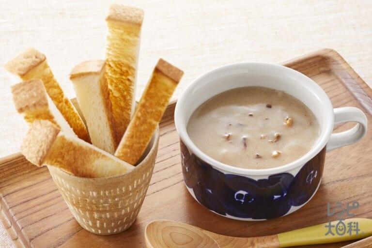 トースト × きのこ dip スープ