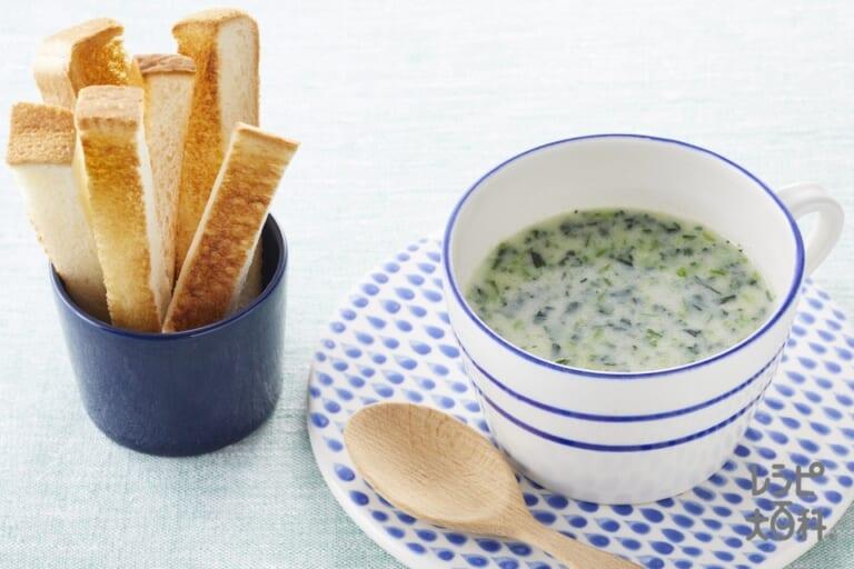 トースト × ポパイ dip スープ
