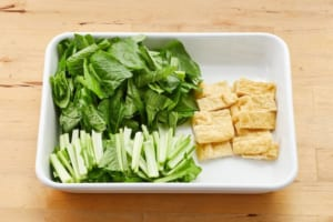 小松菜と油揚げの煮びたしの作り方_0_1