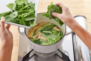 小松菜と油揚げの煮びたしの作り方_2_1