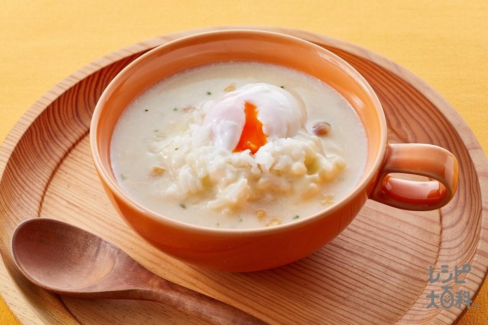 温たま de チーポタリゾット(ご飯+スライスチーズ(溶けるタイプ)を使ったレシピ)