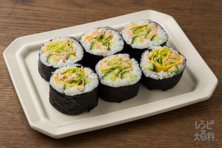 お花のサラダ風巻き寿司~ツナマヨネーズ~
