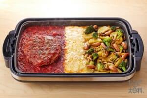 ジャイアント トマトハンバーグ × カレー風味ジャーマンポテト