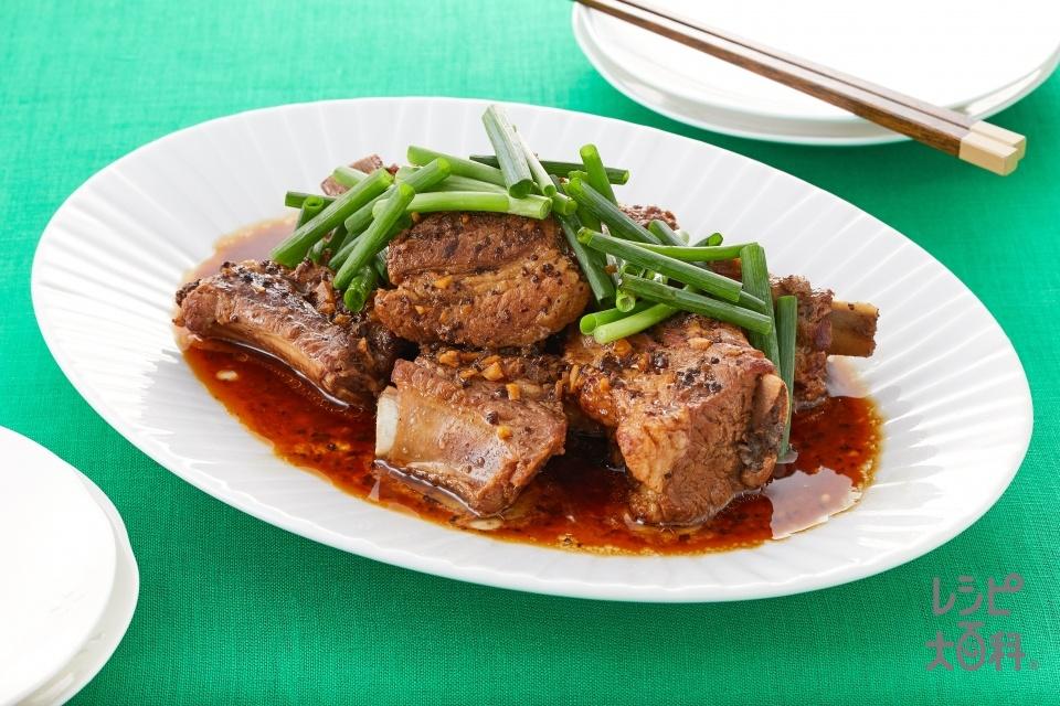 フライパンでつくる!中華風スペアリブ(スペアリブを使ったレシピ)