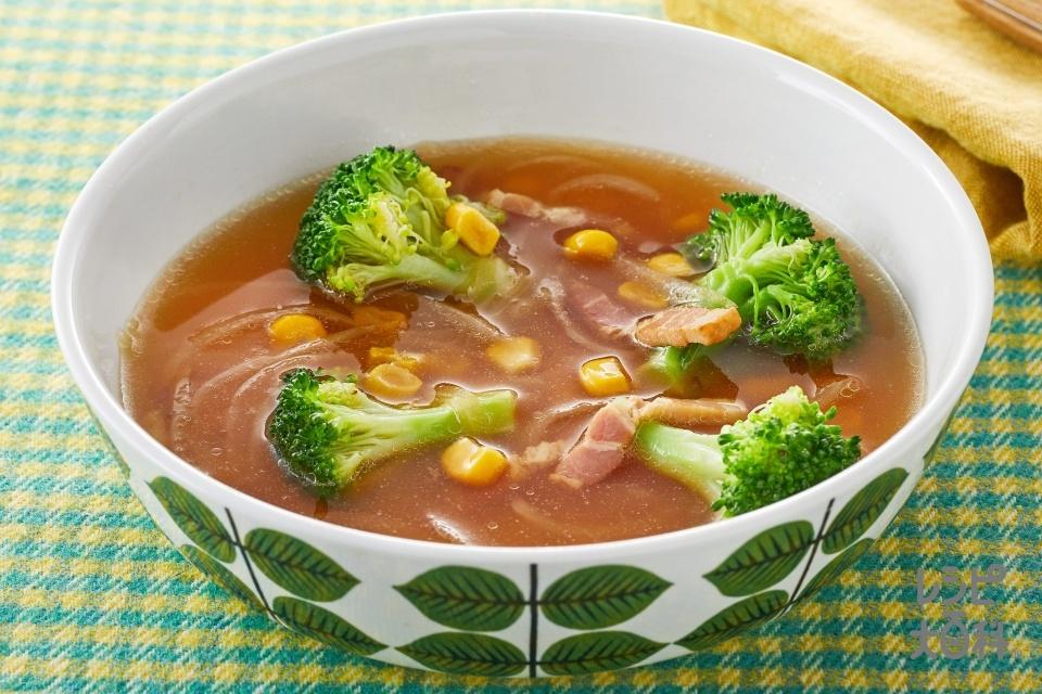 ブロッコリーと玉ねぎのスープ野菜