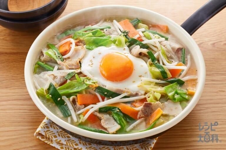 豚バラキャベツの炒め鍋