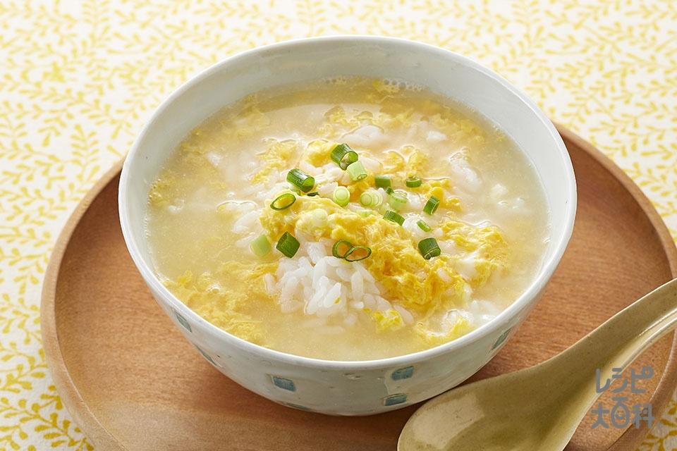 鶏だしと卵の味わい雑炊(ご飯+溶き卵を使ったレシピ)