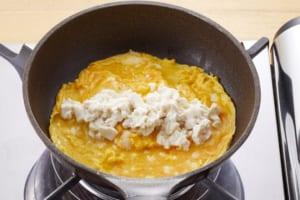 豆腐オムレツ きのこの香味バター炒めがけの作り方_1_1