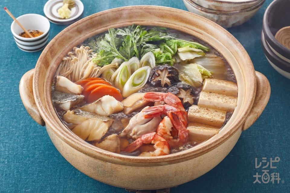 寄せ鍋(たら+鶏もも肉を使ったレシピ)