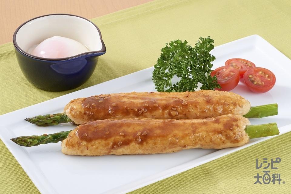 アスパラつくね(鶏ひき肉+グリーンアスパラガスを使ったレシピ)