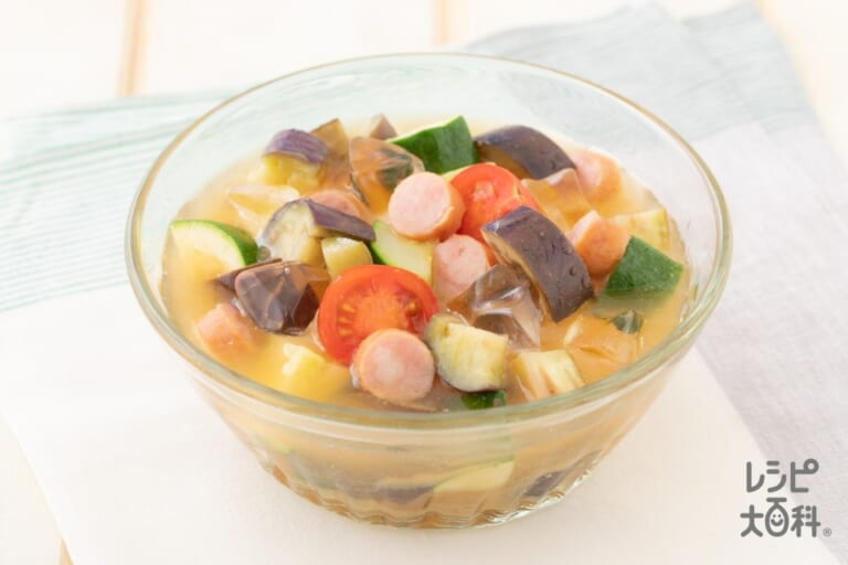 夏野菜の冷やしみそ汁