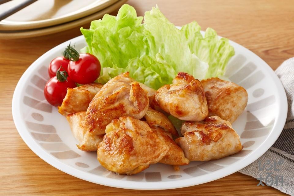 やわらかガリバタ風チキン(鶏むね肉を使ったレシピ)