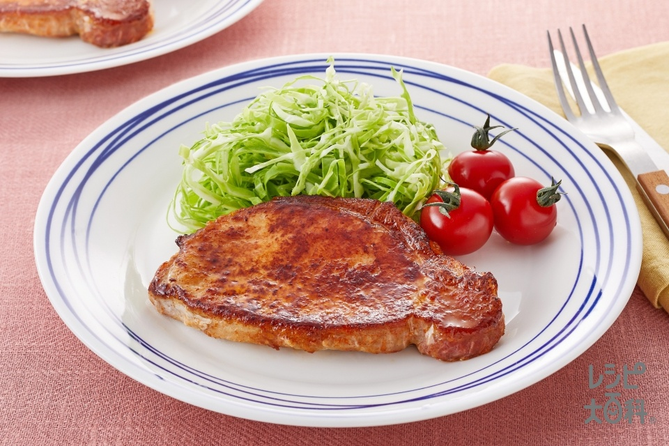やわらかバーベキューポーク(豚ロース肉(厚切り)を使ったレシピ)