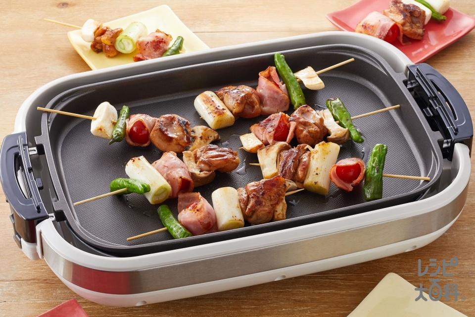 ホイコー焼き鳥(鶏もも肉(皮つき)+長ねぎを使ったレシピ)