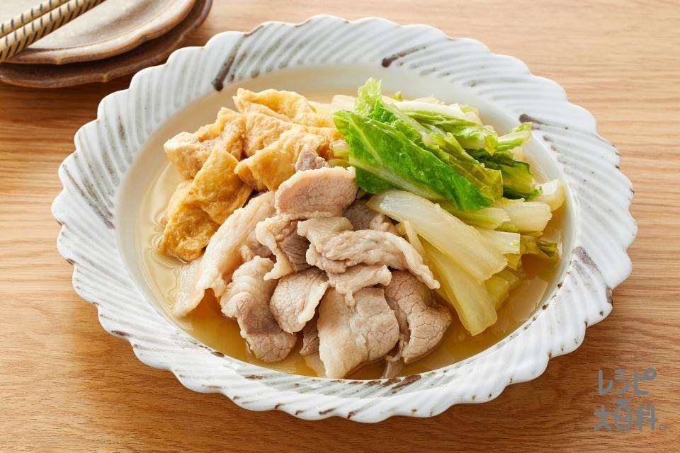 白菜と豚肉のさっと煮(豚バラ薄切り肉+白菜を使ったレシピ)