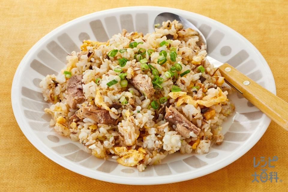 鯖みそ炒飯(ご飯+さば水煮缶を使ったレシピ)