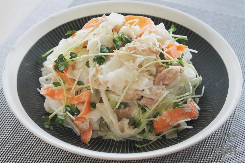 大根とツナのリボンサラダ(大根+にんじんを使ったレシピ)