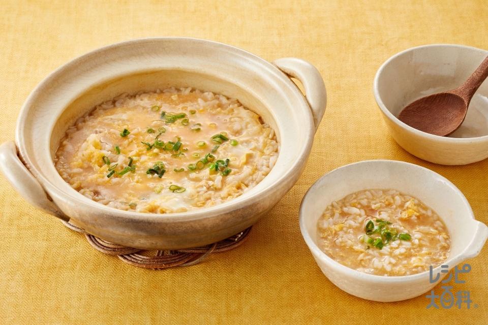鍋の〆 ぽかぽか生姜みそ雑炊(ご飯+溶き卵を使ったレシピ)