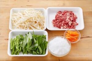 牛肉と空心菜のチャプチェ風の作り方_0_1