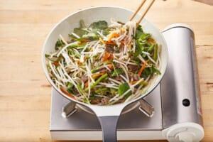 牛肉と空心菜のチャプチェ風の作り方_1_1