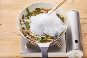 牛肉と空心菜のチャプチェ風の作り方_2_1