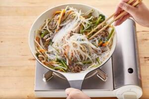 牛肉と空心菜のチャプチェ風の作り方_2_2