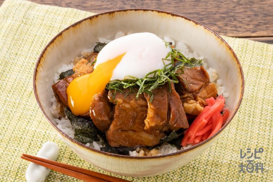 「スチーミー」チャーシュー丼(豚肩ロース肉+ご飯を使ったレシピ)