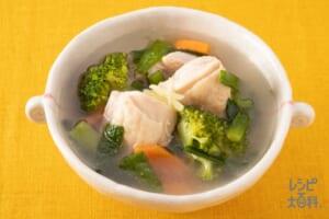にらと鶏肉の満腹スープ