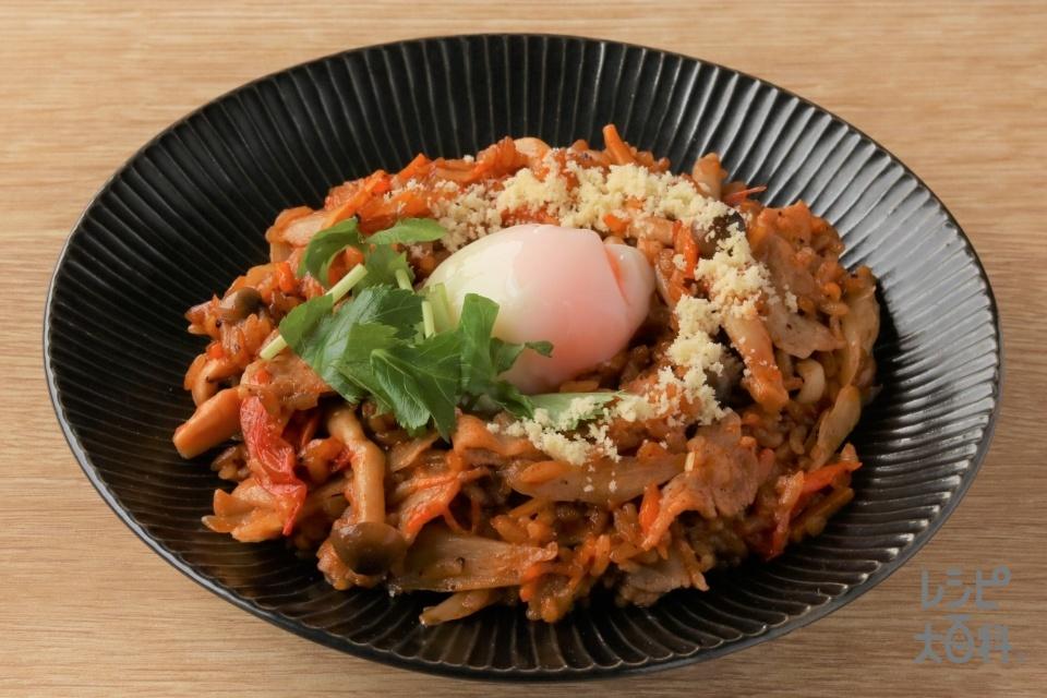 麻婆トマトリゾット(米+豚ロースしゃぶしゃぶ肉を使ったレシピ)
