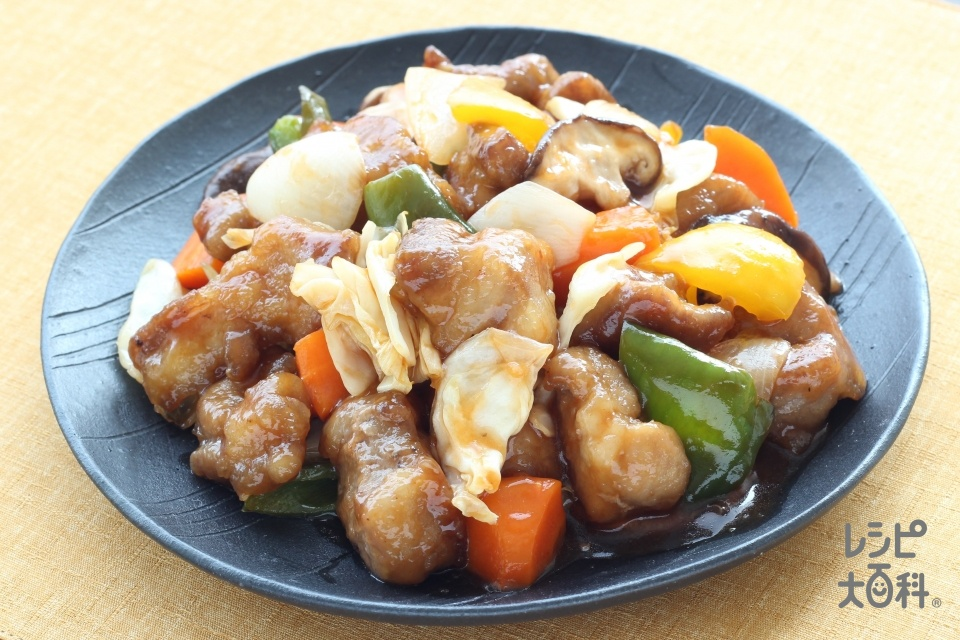 キャベツ酢豚(豚肩ロース肉+キャベツを使ったレシピ)