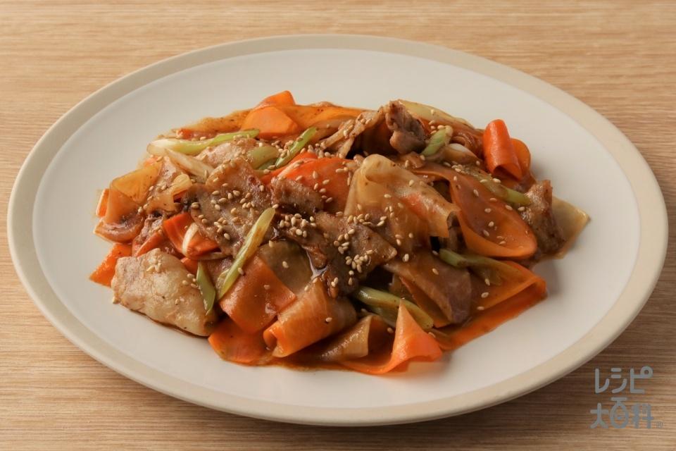 豚バラと大根の中華風(豚バラ薄切り肉+大根を使ったレシピ)