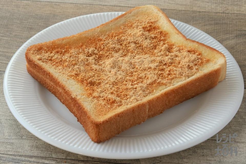 簡単きなこトースト(食パン6枚切り+きな粉を使ったレシピ)