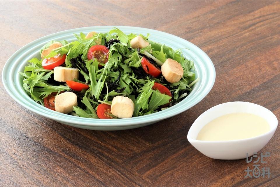おふとひじきの和風シーザーサラダ(ひじき+焼き麩を使ったレシピ)