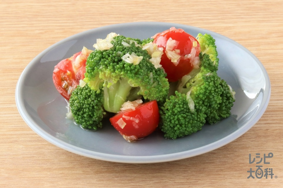 ブロッコリーとトマトのねぎダレ和え(ブロッコリー+ミニトマトを使ったレシピ)