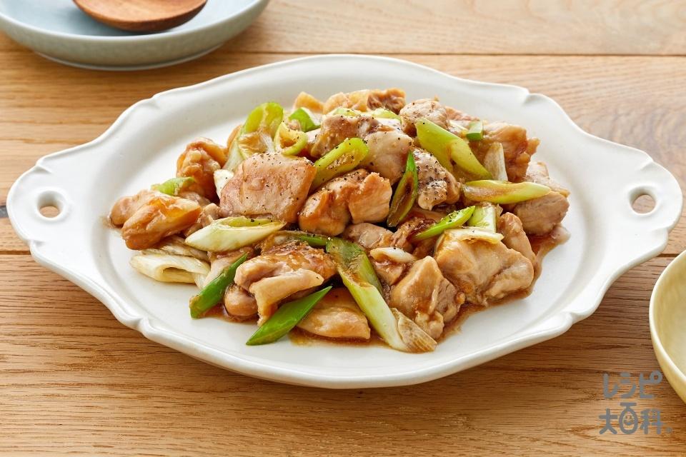レンジで鶏甘辛煮(鶏もも肉+長ねぎを使ったレシピ)