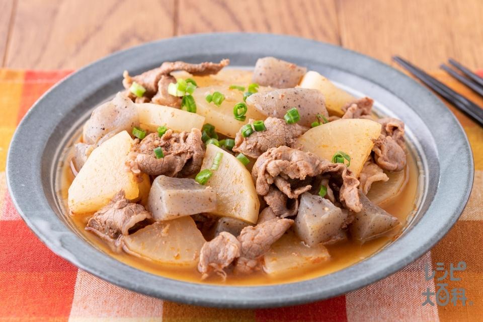 ピリ辛牛大根(牛薄切り肉+大根を使ったレシピ)