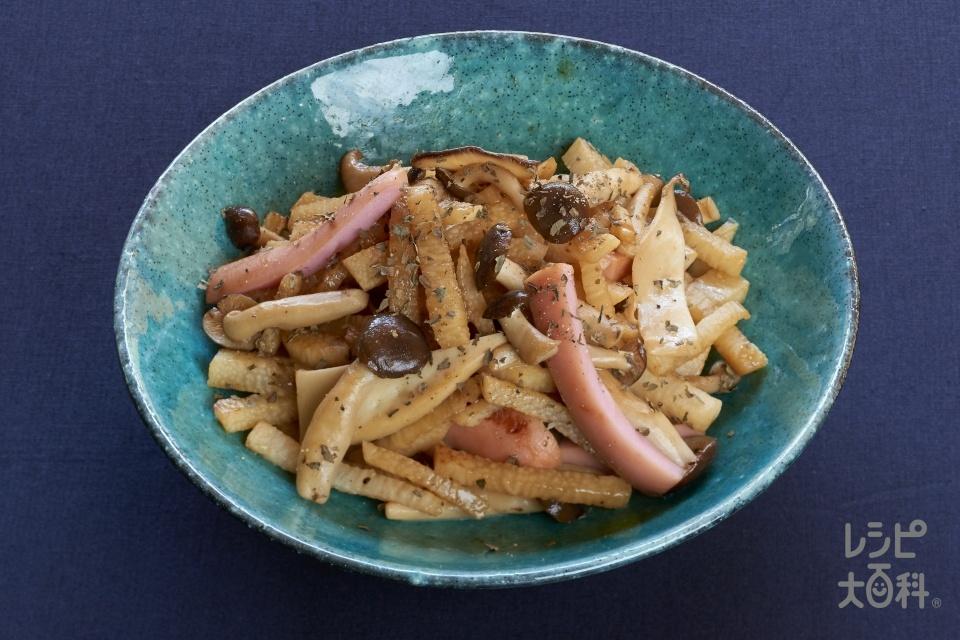 魚肉ソーセージと長芋のソテー(魚肉ソーセージ+長いもを使ったレシピ)