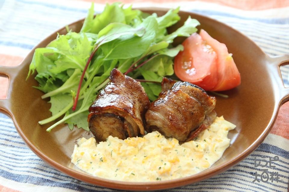 肉巻き南蛮 タルタル添え(豚バラ薄切り肉+なすを使ったレシピ)
