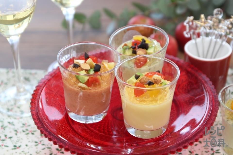 簡単カップスープdeクリスマスムース(牛乳を使ったレシピ)