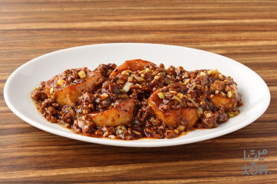 四川式麻婆小町麩(小町麩+豚ひき肉を使ったレシピ)