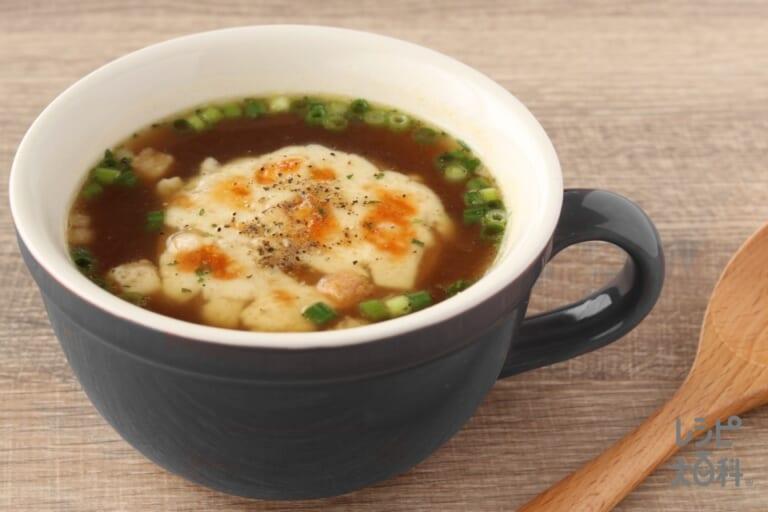 小町麩でつくるオニオングラタンスープ