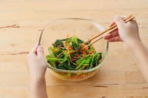 小松菜とにんじんのごま和えの作り方_1_1