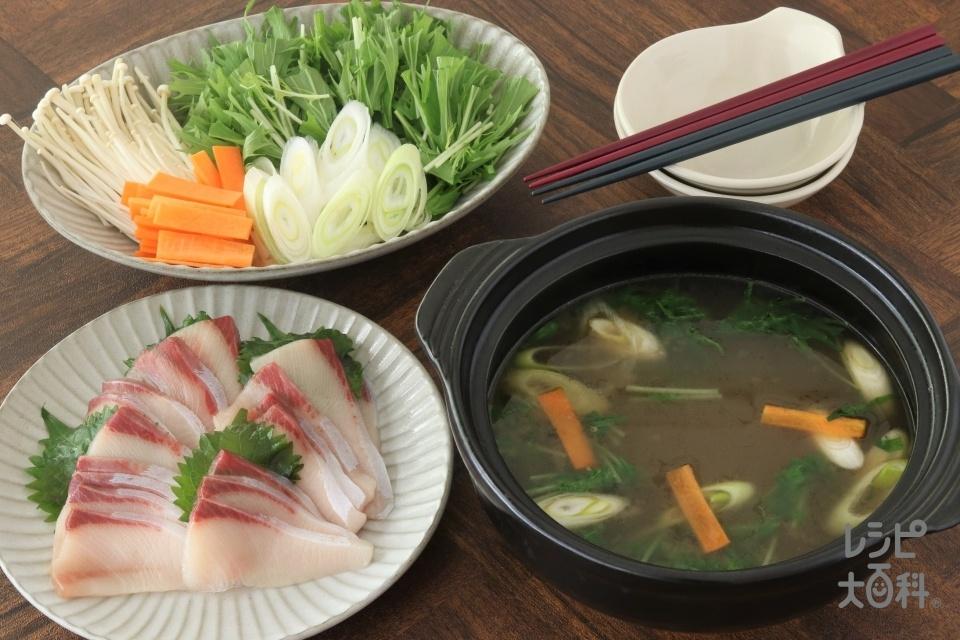 ぶりしゃぶ(ぶり+水菜を使ったレシピ)