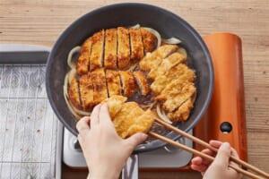 豚ロース肉で作る 基本のかつ丼の作り方_2_1