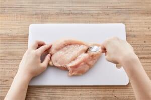 鶏むね肉のしっとり蒸し鶏の作り方_0_1